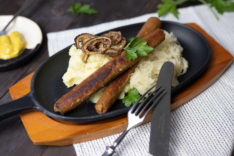 deftige, vegane Bratwurst