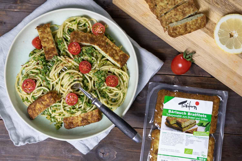 Oliven-Pesto mit Taifun-Bratfiliet