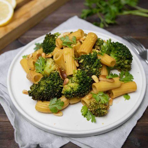 Vegane Zitronen-Brokkoli-Pasta