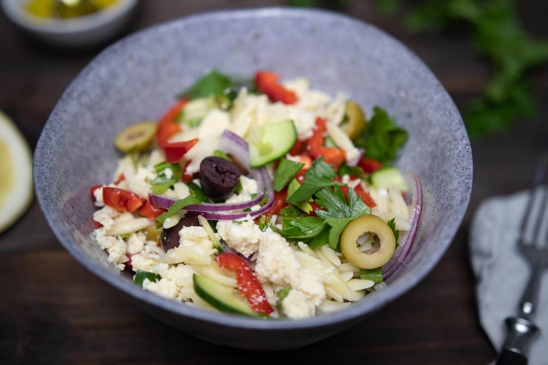 Veganer Orzo-Salat