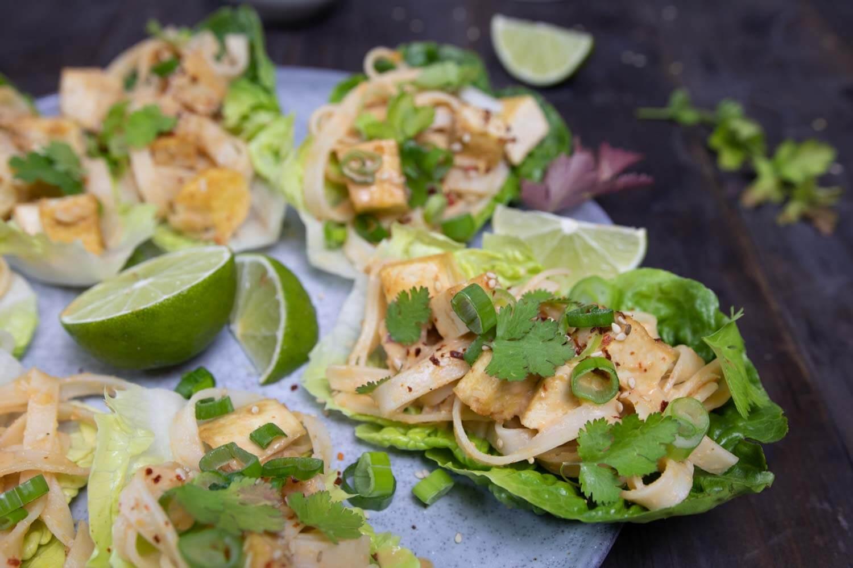asiatische Salat-Wraps