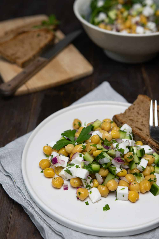 Veganer Kichererbsen-Salat