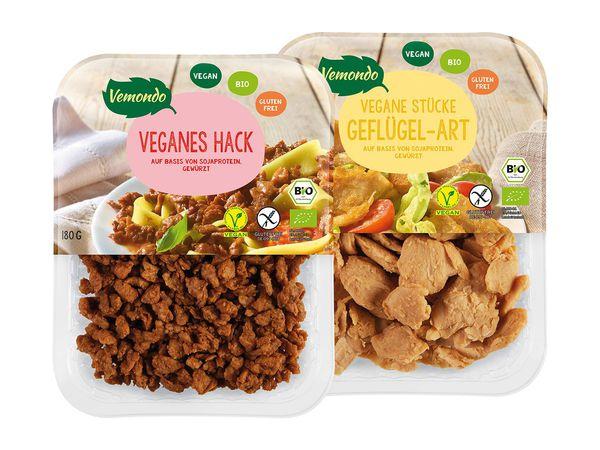 Vegane Ersatzprodukte für Fleisch von Vemondo