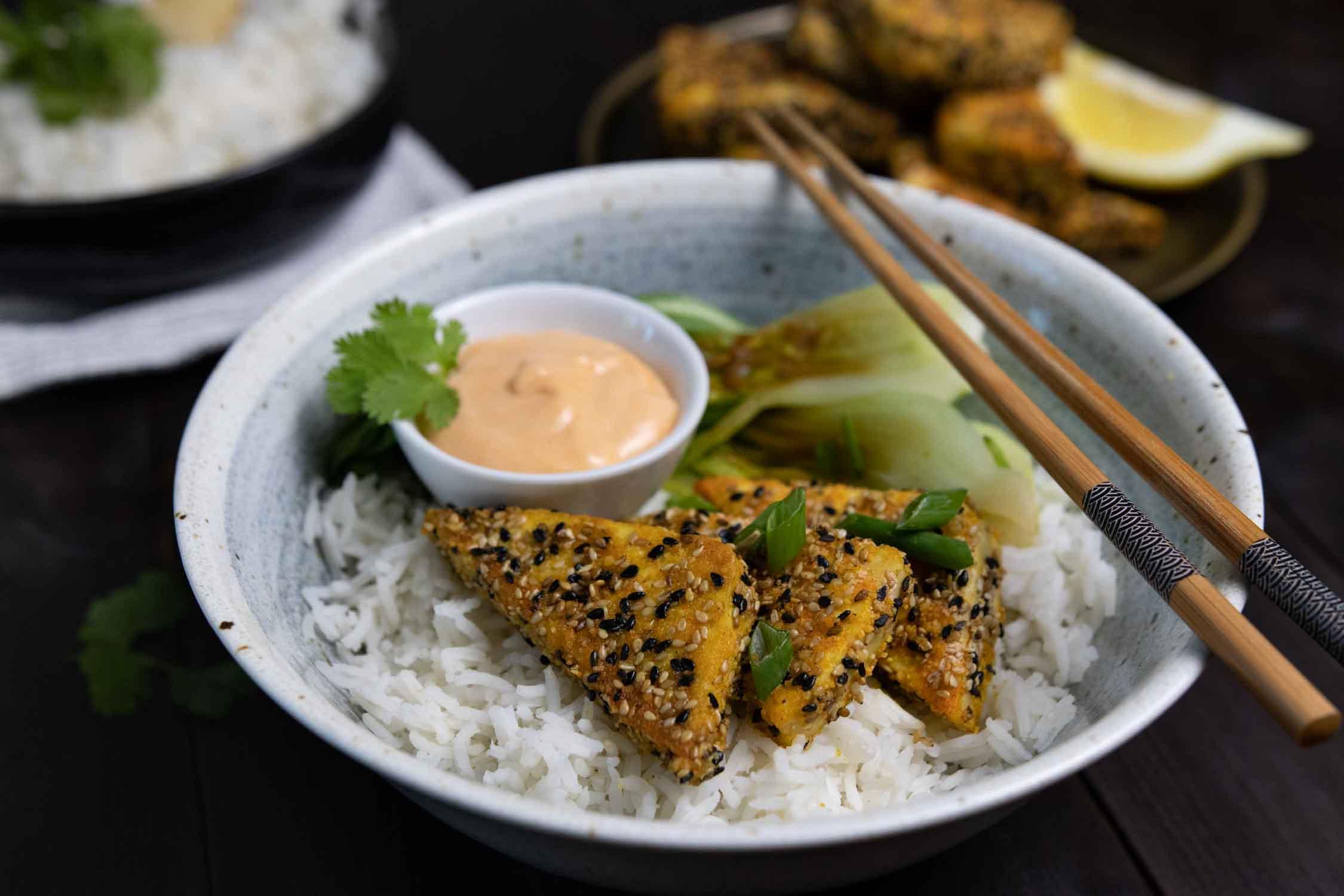 Tofu in Sesamkruste