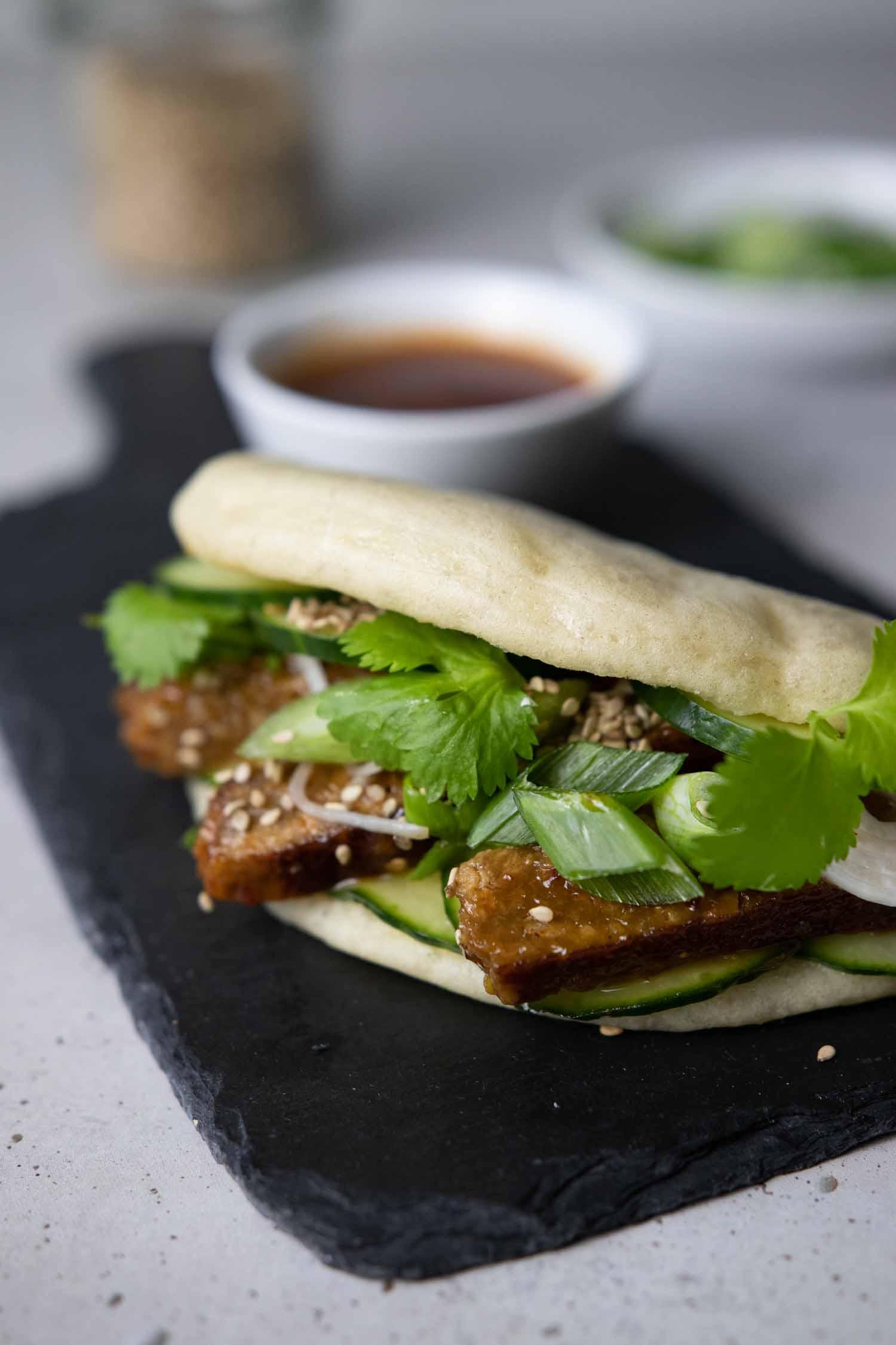 Bao Burger vegan gefüllt mit Seitan